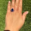 7.00ctw Tanzanite and Diamond Halo Ring 14
