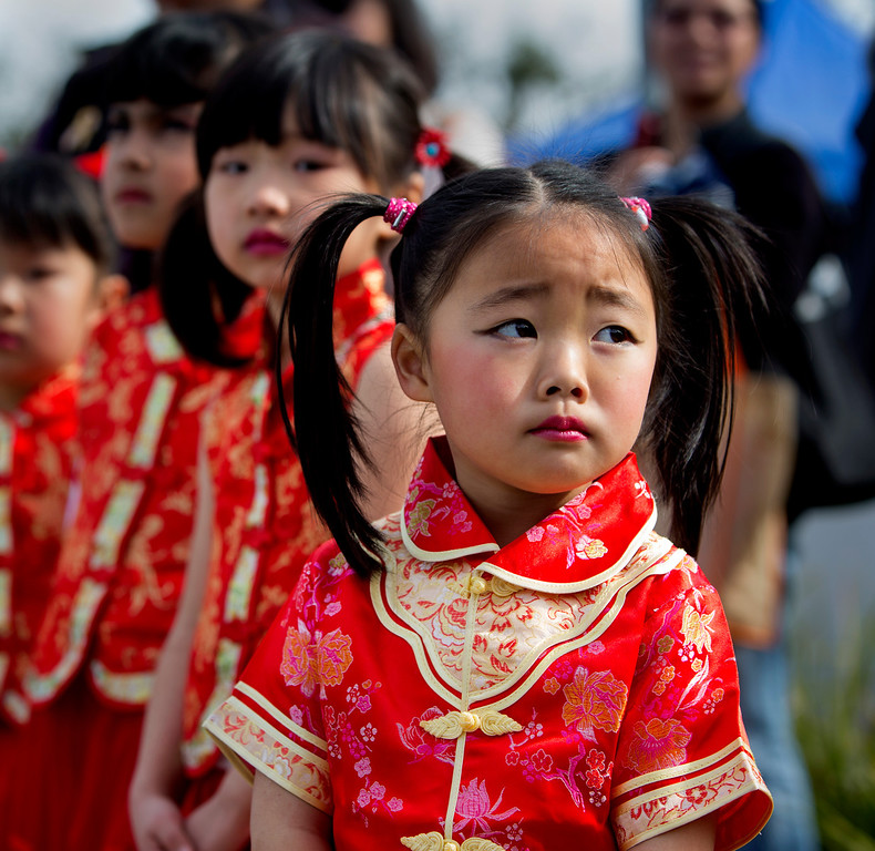 . Maida Liu, 4, was the youngest dancer to perform at the Lunar New Year Festival in Millbrae, Calif. on Saturday, Feb. 16, 2013.