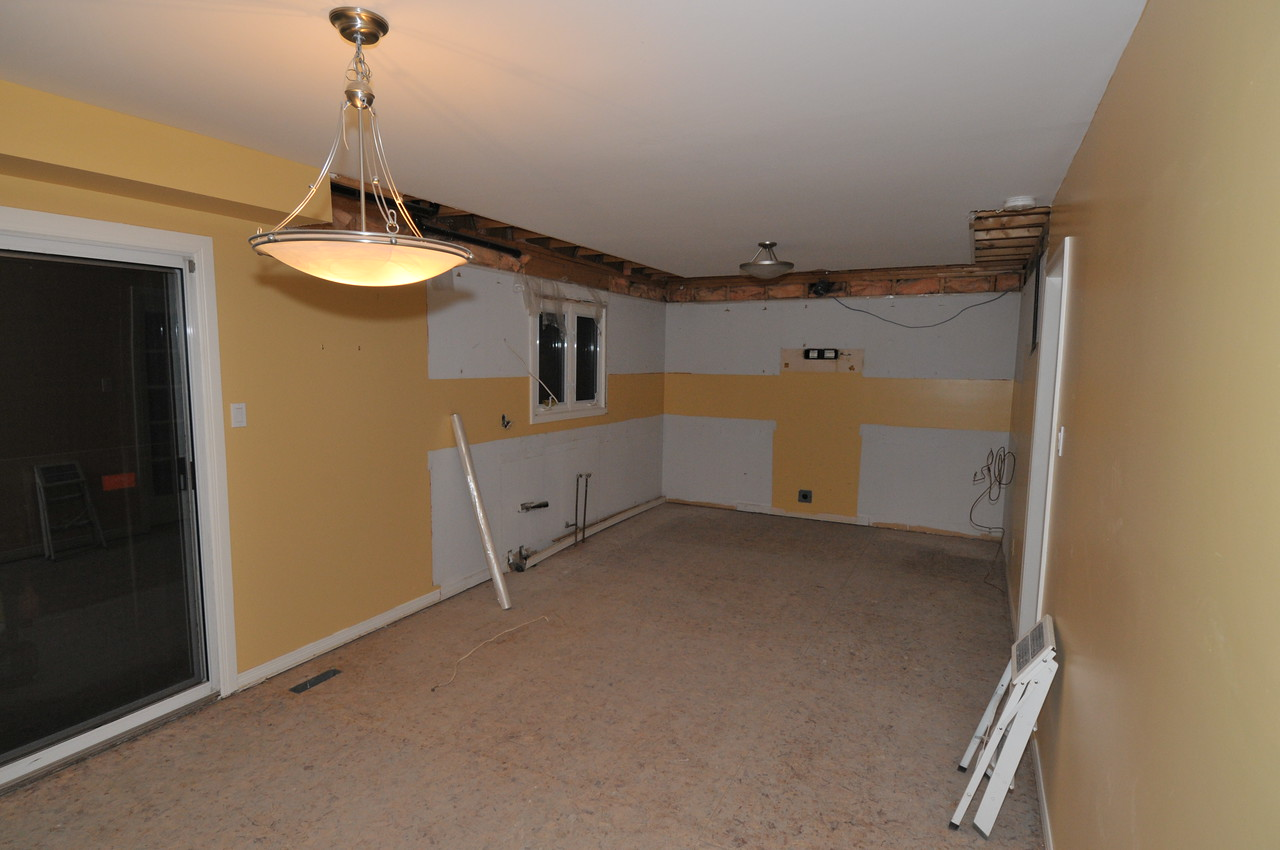 The entire kitchen now removed