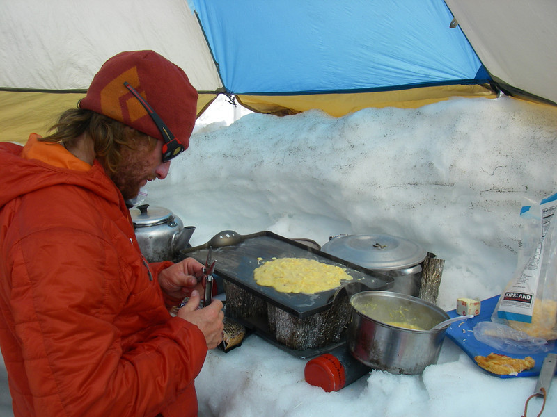 We had excellent food... Our first breakfast: Eggs and Cheese. (Durny)