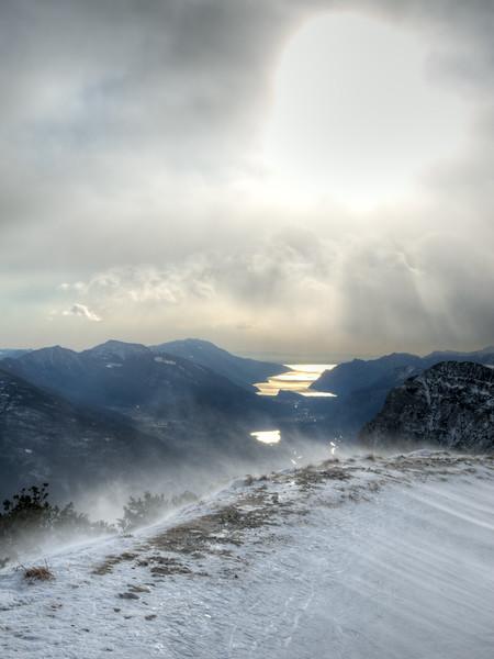 Lake Garda - Cima Paganella, Terlago, Trento, Italy - January 6, 2012