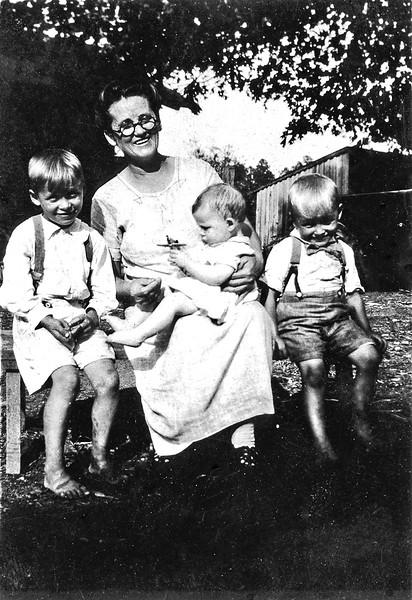 Bettie Duke and three sons
