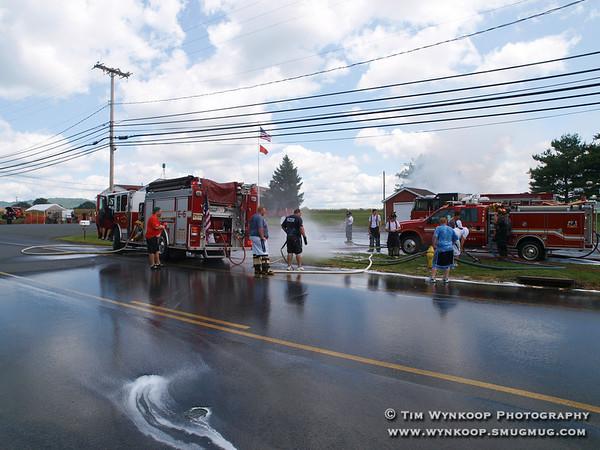 Lopatcong Township Fire Company #2, 2008 Pierce Custom Contender 1500 GPM Pumper Wetdown Celebration