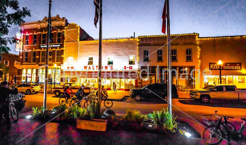 Downtown Bentonville -- After Dark  (in progress)