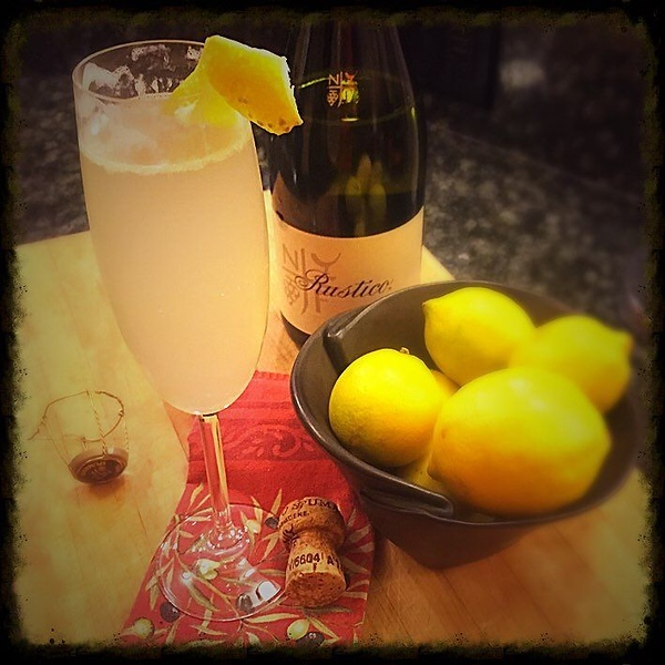 Lemon. Elderflower. Gin. Prosecco. #cheers