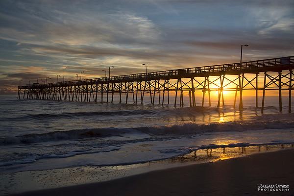 Sunset at Yaupon Beach Fishing Pier - Oak Island, NC
