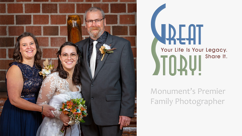 Family Photographer in Monument Colorado, Geer Wedding Portrait