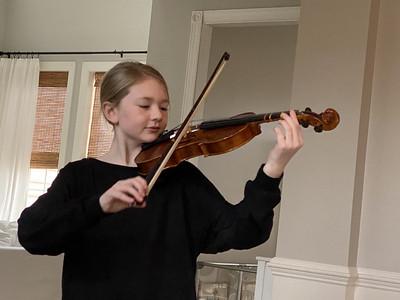 Grace Plays Violin