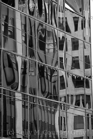 Vancouver Reflections B&W