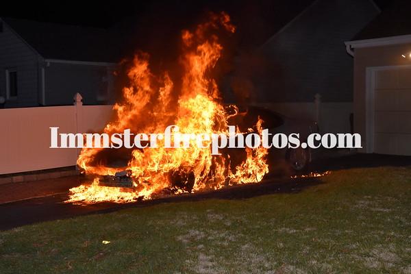 BETHPAGE PRAIRIE PATH CAR FIRE 2-20-16