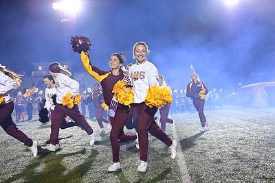 Ankeny Hawks Cheer Dance Marching Band and Student Section Senior Night 10222021