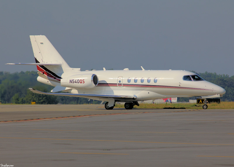 Textron Aviation (Cessna) 680A Citation Latitude c/n 680A0083 N540QS taxiing in after a flight from Little Rock, AR KPDK, Dekalb GA, 05/28/2021, This work is licensed under a Creative Commons Attribution- NonCommercial 4.0 International License.