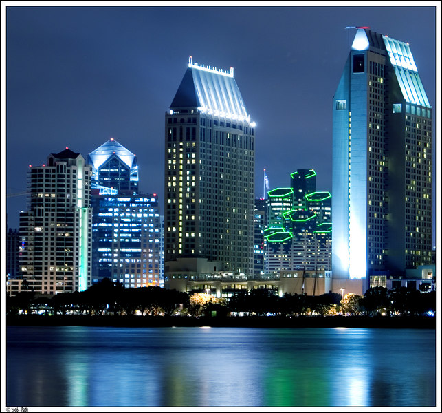 Main buildings of San Diego Skyline (3rd place on FujiMugs contest - October 2006)