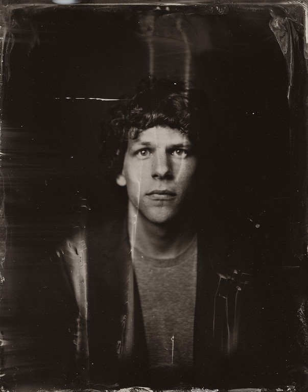 . Jesse Eisenberg  poses for a tintype (wet collodion) portrait at The Collective and Gibson Lounge Powered by CEG, during the 2014 Sundance Film Festival in Park City, Utah. (Photo by Victoria Will/Invision/AP)