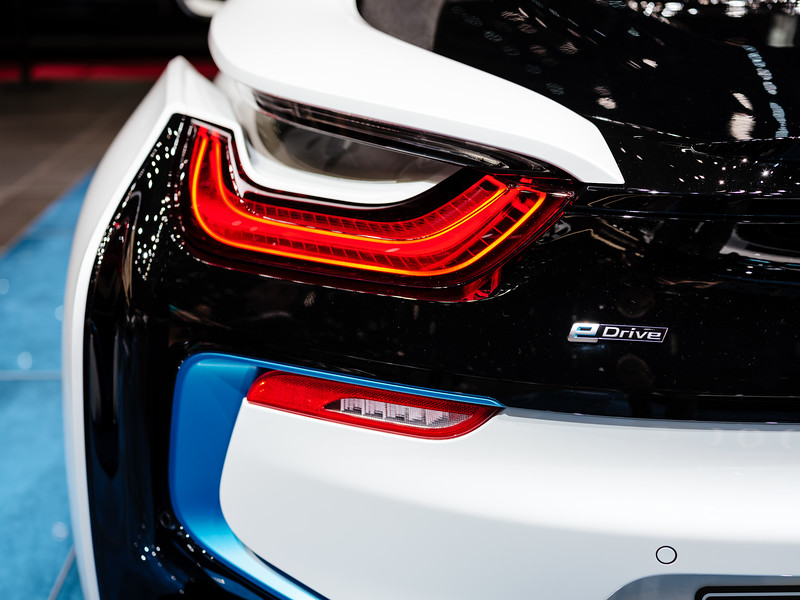 Exterior detail of the BMW i8 Roadster - Samuel Zeller for the New York Times
