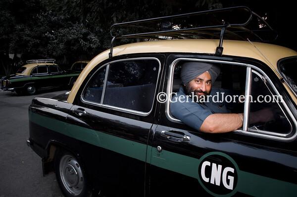 Taxi driver in New Delhi