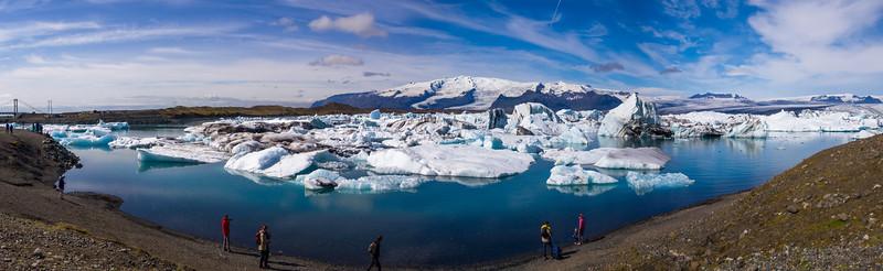Jökulsárlón is a fresh water lagoon where the Breiðamerkurjökull Glacier empties into the sea.
