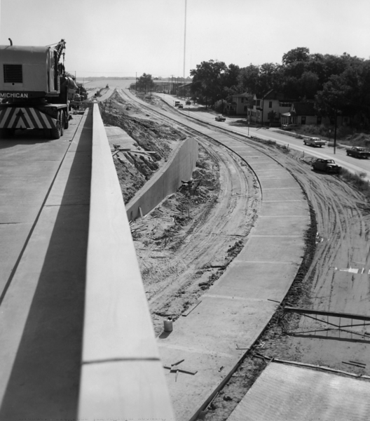 Construction of I-95/Main Street/Acosta Bridge Interchange in 1958.