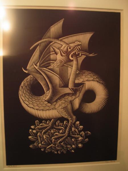 Dragon, 1952 (wood engraving)