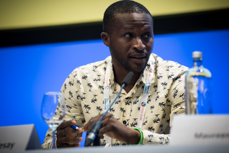 22nd International AIDS Conference (AIDS 2018) Amsterdam, Netherlands   Copyright: Marcus Rose/IAS  Photo shows: TB 2018: Bridging the TB and HIV Communities. Discussion: Bringing TB prevention to scale.  Abdulai Sesay, Civil Society Movement Against Tuberculosis Sierra Leone, Sierra Leone .
