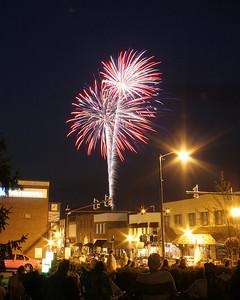 Downtown Valdese Fireworks