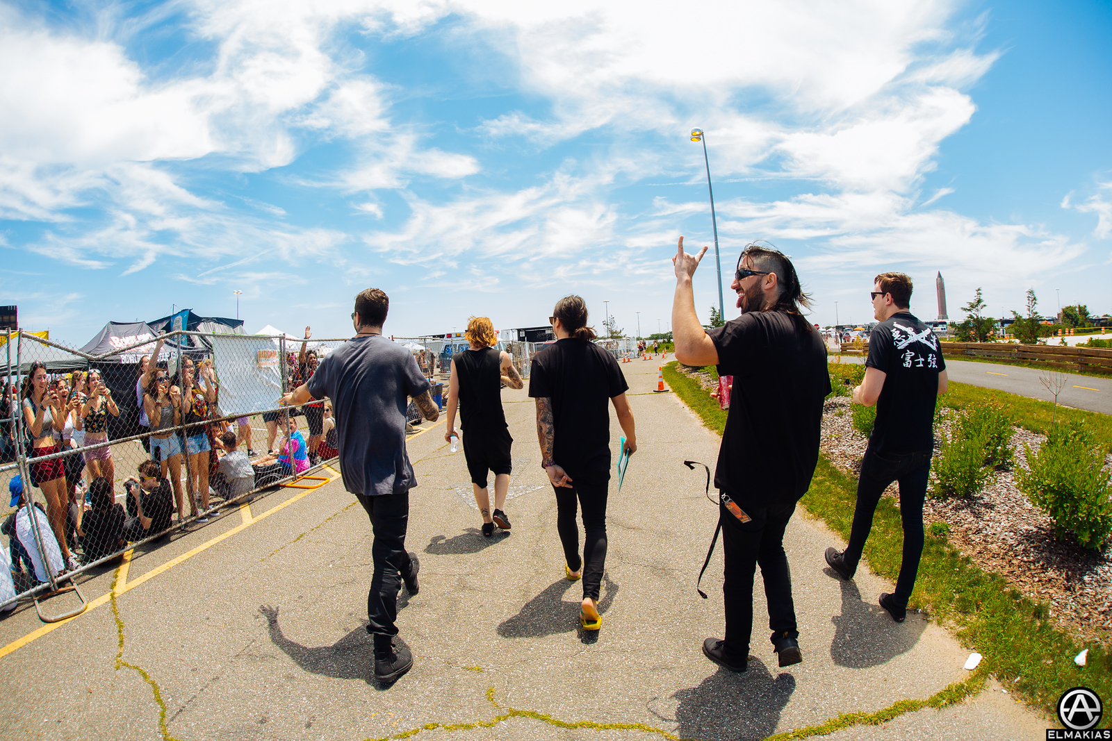 Of Mice & Men headed back to the bus