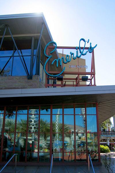 Emeril's restaurant in between Universal Studios and Universal's Islands of adventure