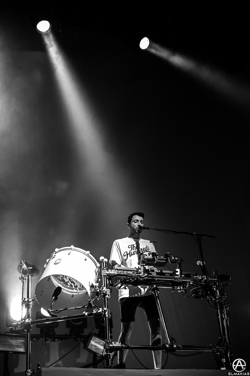 Jordan Fish of Bring Me The Horizon - Parks and Devastation Tour by Adam Elmakias