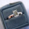 1.00ct Emerald Cut Diamond Solitaire, Platinum 13