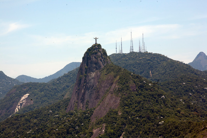 Christ the Redeemer from Sugarloaf Mountain in Rio de Janeiro, Brazil.