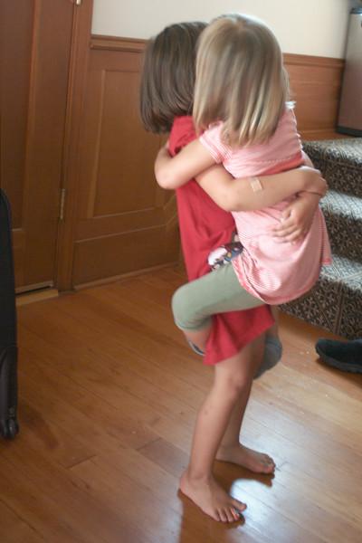 Hugs all around.