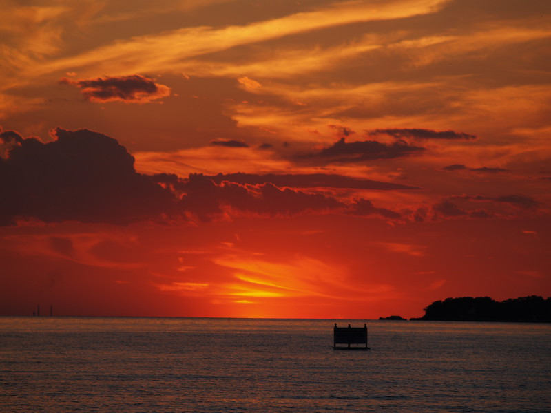 August sunset over Lake Erie from South Bass Island (2008).