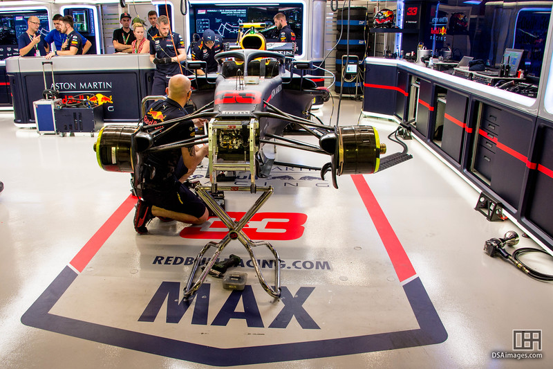 Max Verstappen's car (Aston Martin Red Bull Racing)