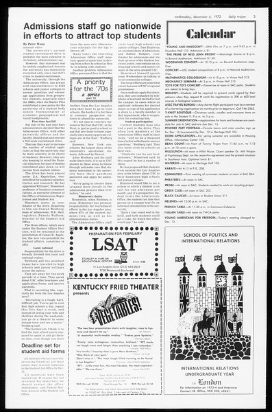 Daily Trojan, Vol. 65, No. 51, December 06, 1972