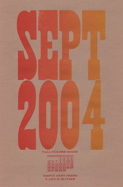 September, 2004, The Empty Nest Press