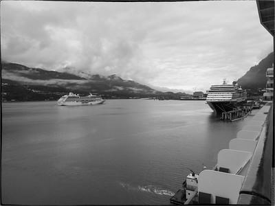 Juneau, Alaska in Monochrome