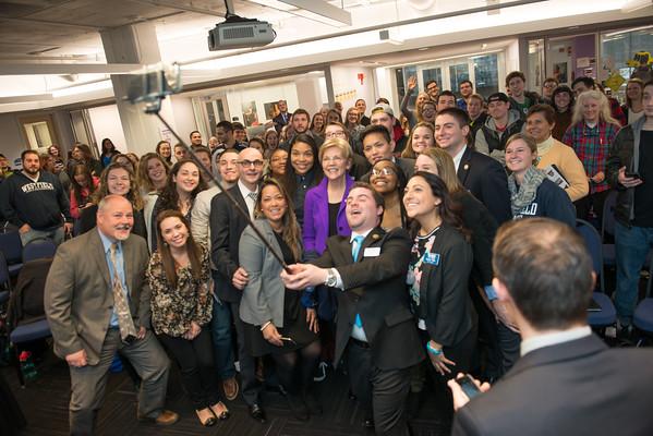 Senator Warren Visits Westfield State, Feb 2016