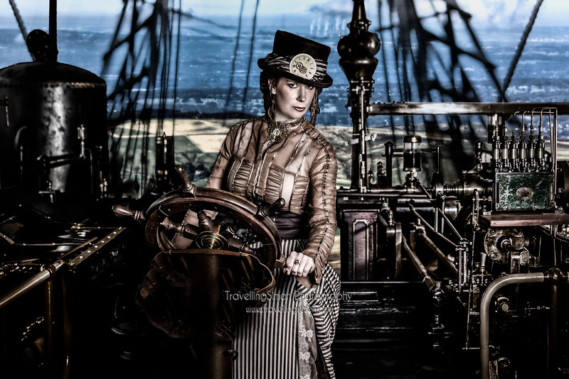 Fleet Admiral Lenore Coyle Stairmand-'Piloting the Airship HMS Naughtyless'