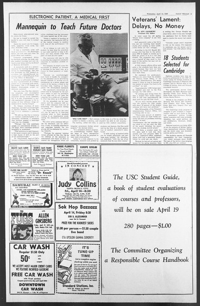 Daily Trojan, Vol. 58, No. 103, April 12, 1967