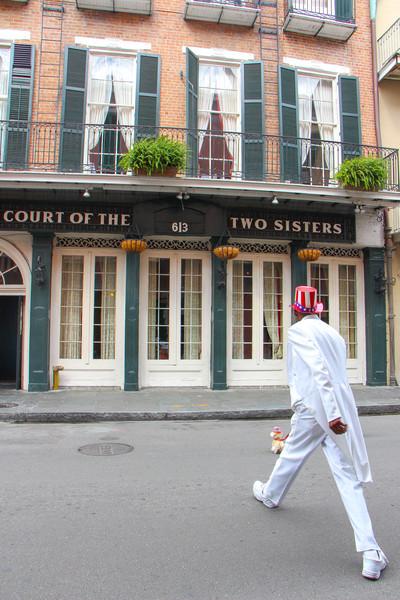 Street performer on Royal Street...
