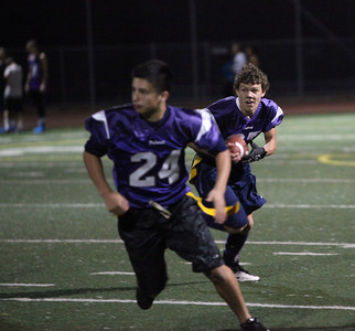 8th Grade Flag Football Piedmont vs Moraga under the lights