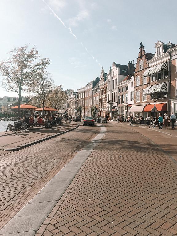 Street Scene in Haarlem, Netherlands