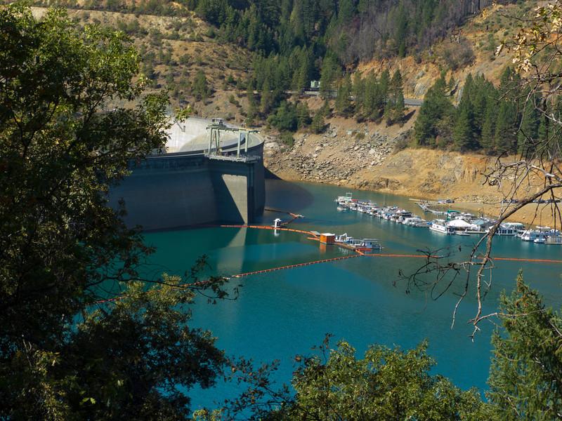 New Bullards Bar Dam reservoir.