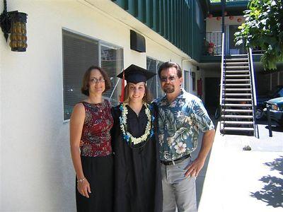 Graduation celebration with family