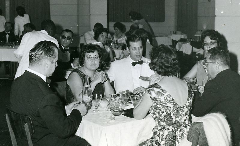 Festa das Amarílis de 1962 Mário Correia, Lurdes Sernadas, Vítor Santos, Maria Ilda Correia, José Sernadas e Maria Adelaide