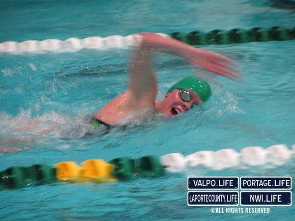 VHS Swimming vs Michigan City 2012