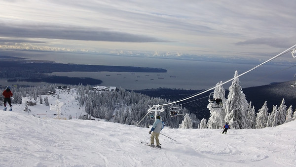 Skiing at Grouse - Dec 28 2010