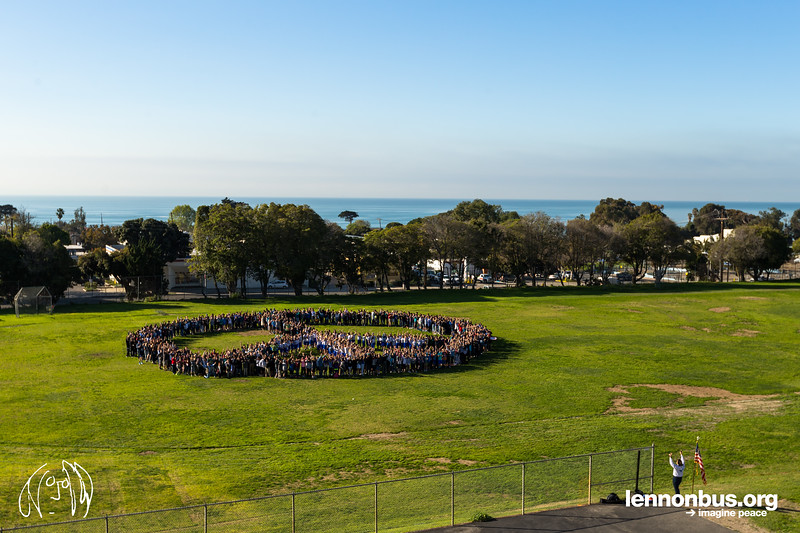2017_02_01, Cabrillo Middle School, Ventura, CA, Peace Sign