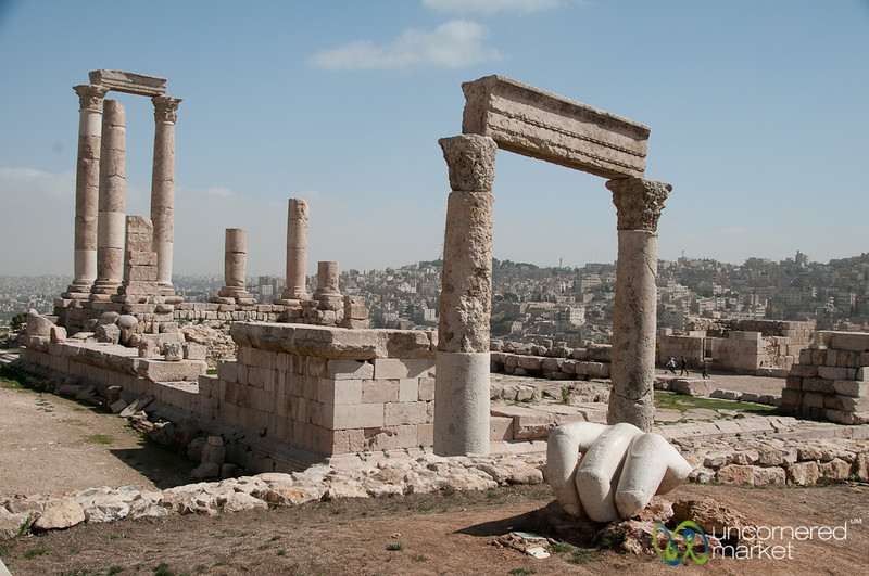 The Ancient Hand of Hercules - Citadel in Amman, Jordan