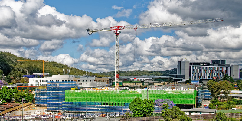 Gosford Hospital building progress  November 12, 2018.  (h65ed)